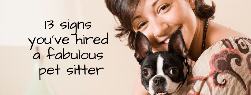 13 Signs You've Hired A Fabulous Pet Sitter - Pure Love Pet